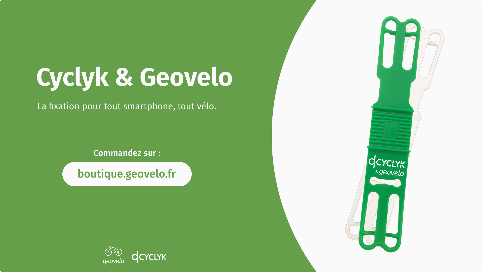 Geovelo Cyclyk Support Fixation smartphone