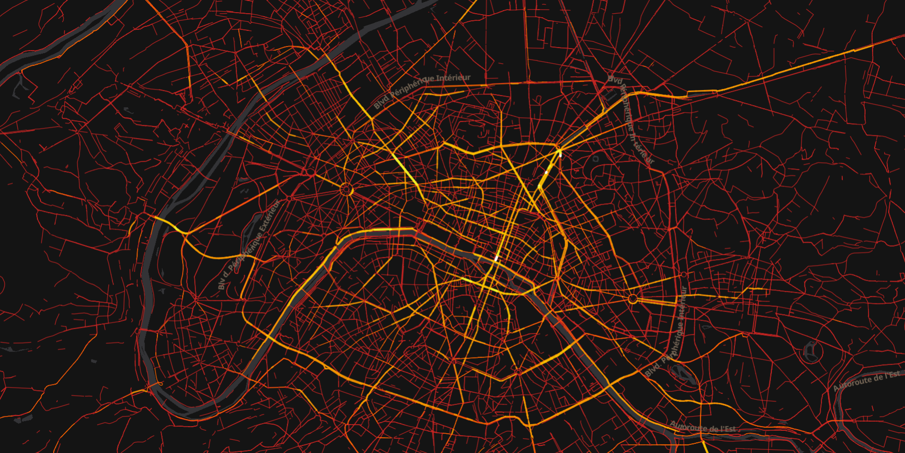 Heatmap de Paris